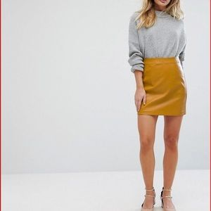 Mustard Yellow Mini Skirt